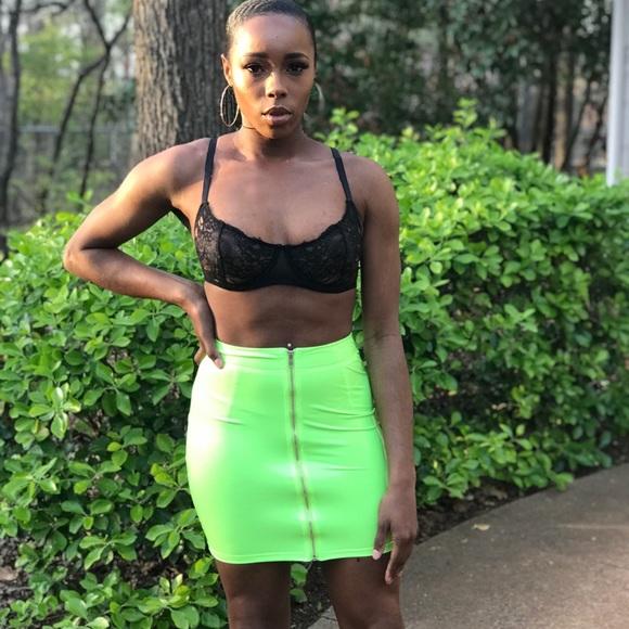 Dresses & Skirts - Latex mini skirt